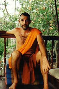 Monk in orange